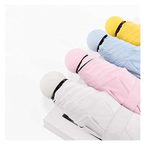 GIAOGIAO Paraguas Señora Paraguas de la Personalidad Creativa Parasol Pequeño Fresco Color Puro de protección Solar UV de protección Solar Paraguas (Color : Black)