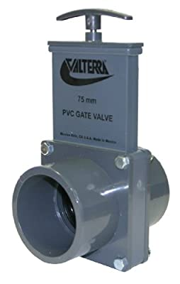 Valterra 8251 PVC Metric Gate Valve, Gray, 75/90 mm Slip-Spig x 75/90 mm Slip-Spig from Valterra Products