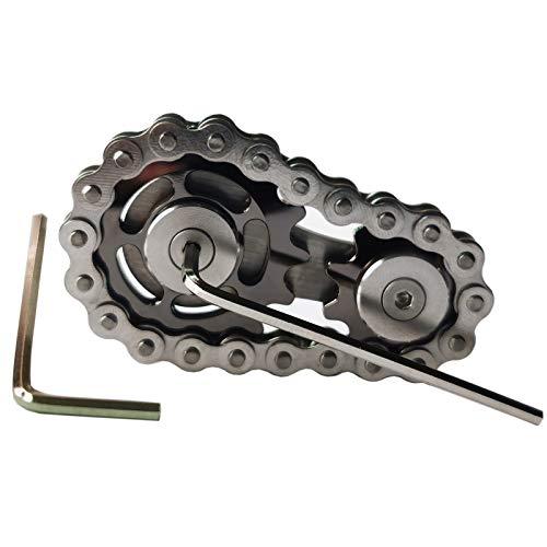 Sprocket-Fidgets-Chain-Stainless-Steel-Fidget-Cube-Gears-Linkage-Bike-Chain-Novelty-Fidget-Block-Kinetic-Desk-Toy-Metal-EDC-Focus-Meditation-Break-Bad-Habits-ADHD