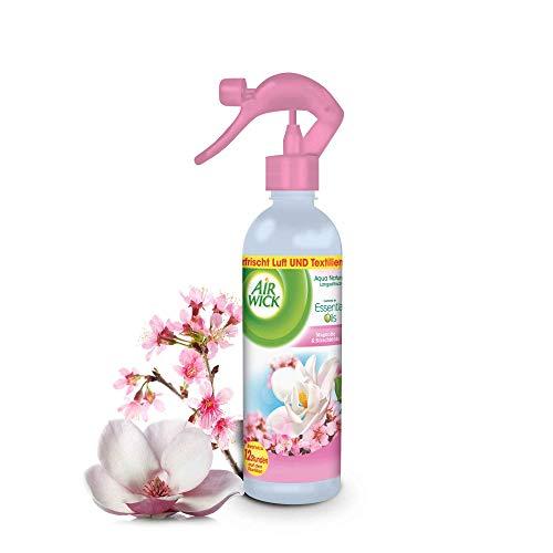 Air Wick Aqua Nature Spray Magnolie & Kirschblüte – Blumig-frisches Duftspray für Luft und Textilien – Duft: Magnolie & Kirschblüte – 4 x 345 ml