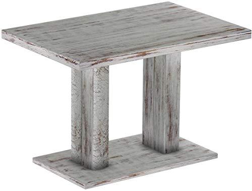 Brasil Furniture Rio UNO Rond 90 cm Brasil tafel eettafel massief grenen, eetkamertafel hout keukentafel echt hout maat en kleur naar keuze Shabby_Chic Tisch 120 x 80 cm 303 shabby eiken