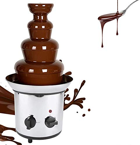 Fuente de Chocolate, Chocolate Fountain Party Time Fuente, Fuente De Chocolate De Acero Inoxidable, Apta para Todo Tipo De Chocolates 2000 W