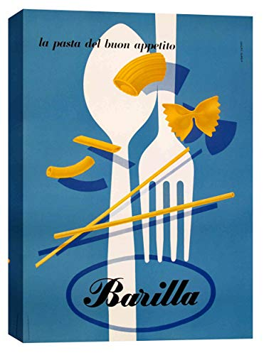 "Epic Graffiti ""Barilla Pasta Vintage Advertisement"" Giclee Canvas Wall Art, 12"" x 18"""