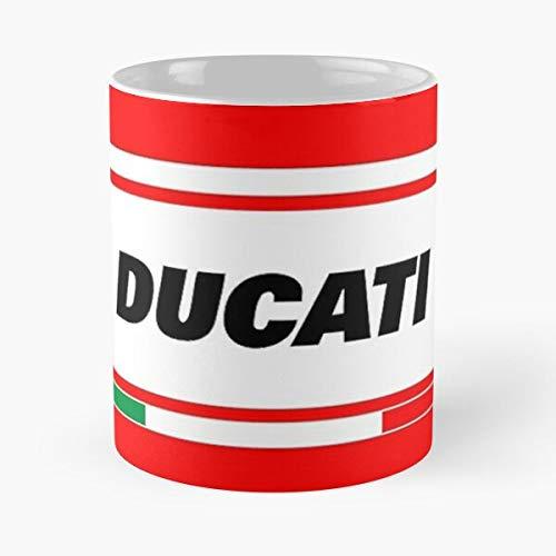 5TheWay Ducati Italy Mug Best 11 oz Kaffeebecher - Nespresso Tassen Kaffee Motive