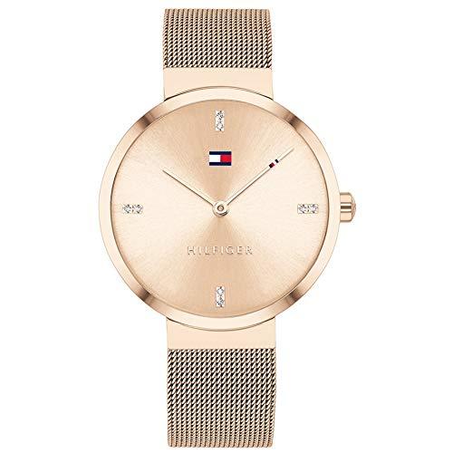 Tommy Hilfiger Reloj Analógico para Mujer de Cuarzo con Correa en Acero Inoxidable 1782218