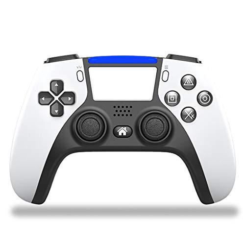 Mando inalámbrico Bluetooth para PS4, Game Joystick Remote Gamepad para PS4, con panel táctil de seis ejes, doble vibración y audio, capacidad de 1000mAh para Android PS4/PS4 Slim/PS4 Pro,Blanco