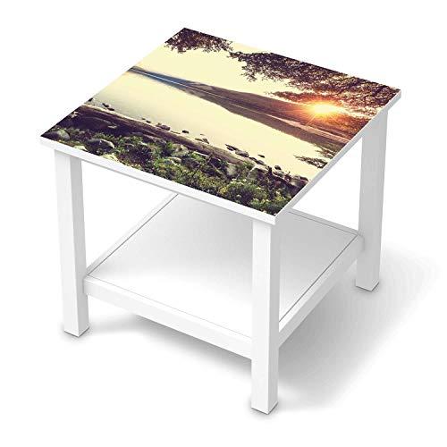 Möbelfolie selbstklebend passend für IKEA Hemnes Beistelltisch 55x55 cm I Möbeldeko - Möbel-Aufkleber Folie Tattoo I Wohndeko für Esszimmer und Wohnzimmer - Design: Seaside Dreams