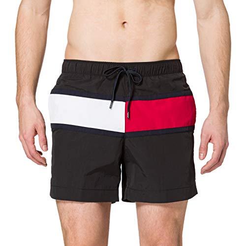 Tommy Hilfiger Herren MEDIUM Drawstring Schwimm-Shorts, Schwarz, M