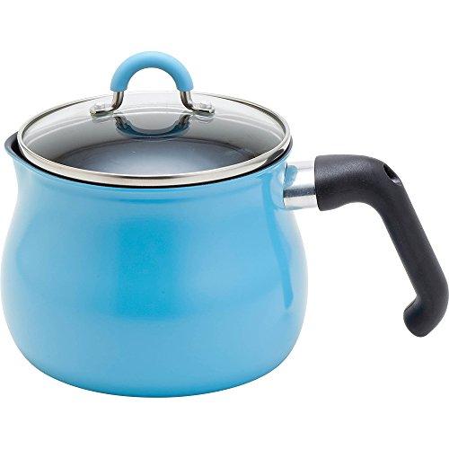和平フレイズ マルチポット Mサイズ 14cm 2.2L (1~2人用) ライトブルー IH対応 ご飯鍋 ミルクパン 揚げ鍋 ふっ素樹脂加工 トゥーメイ To May 一人暮らし 新生活 SRA-9472