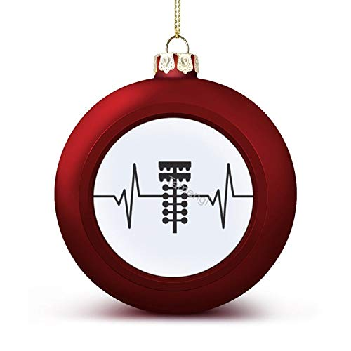 3 Inch Christmas Ornament, Drag Racing Light Tree Heartbeat Pulse Graphic Xmas Ornaments, Keepsake Gift Memorial Peace & Happiness Christmas Decorations