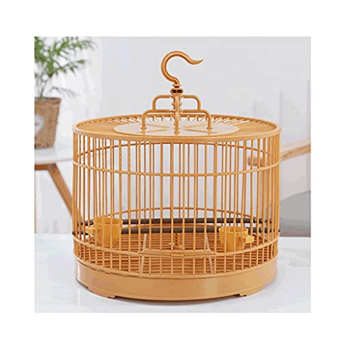 Gabbie per uccelli decorative Gabbia di uccelli di volo della gabbia di volo della gabbia di uccello dell uccello rotondo con il supporto di rotolamento e la scatola di alimentazione per il viaggio o