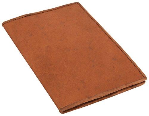 Gusti Cuero nature' Becky' Funda de Libro Formato A5 Vintage Retro Universidad Trabajo Oficina Papelería Cuaderno Libreta Protección Marrón P4