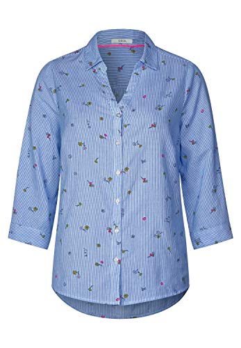 CECIL Damen 341574 Bluse, Mehrfarbig (Blouse Blue 31838), X-Large (Herstellergröße:XL)