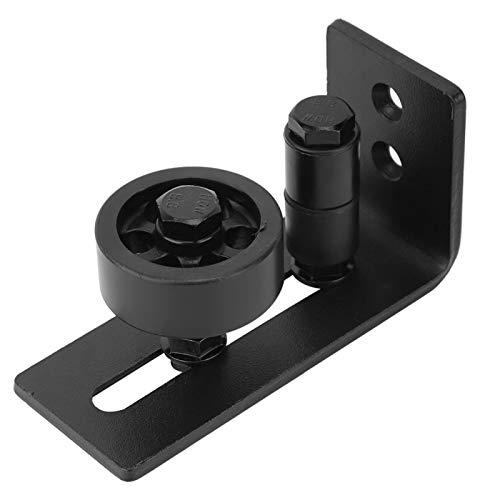 8 configuraciones diferentes Mano de obra exquisita Guía de montaje en puerta Guía de puerta resistente al desgaste Material de acero negro, para puerta
