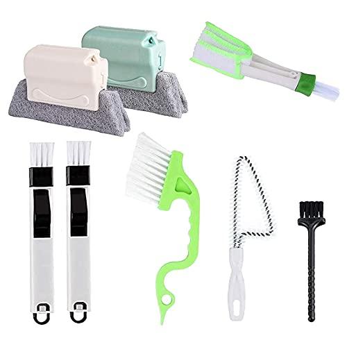 OVBBESS Herramienta de limpieza de espacio de mano, herramienta de limpieza de puertas y ventanas, cepillo de limpieza de espacio de esquina