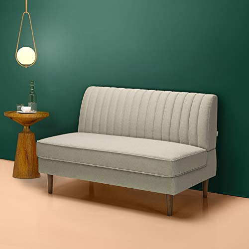 Zinus Jocelyn Contemporary Loveseat Sofa / Settee / Armless Design / Easy, Tool-Free Assembly