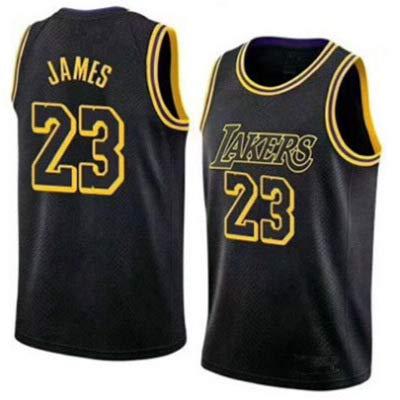 James· Lakers #23 College Basketball Trikot, Sportbekleidung, Unisex, ärmelloses T-Shirt L Schwarz