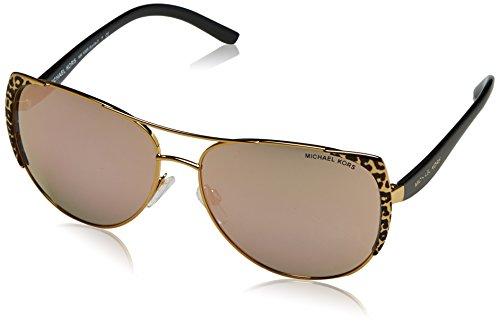 Michael Kors Unisex MK1005 Sadie I Sonnenbrille, Gold (Gold 1057R5), One size (Herstellergröße: 59)