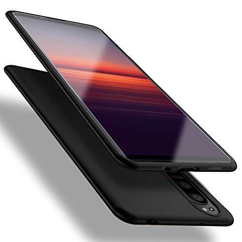 X-level Sony Xperia 5 II Hülle, [Guardian Serie] Soft Flex TPU Hülle Superdünn Handyhülle Silikon Bumper Cover Schutz Tasche Schale Schutzhülle für Sony Xperia 5 II 5G - Schwarz