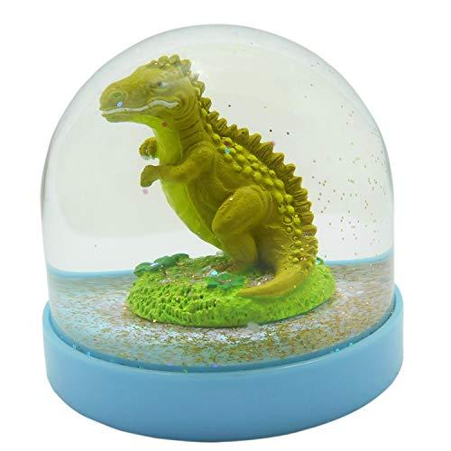 Lightahead Mini Dinosaur Snow Globe Inside Blue Base,Table Top Decorations Christmas,Birthday Gifts