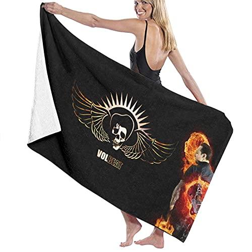 Volbeat Super Absorbente Hombre Mujer Adolescentes Toallas de Baño Multiusos para Yoga Baño Hotel Gimnasio Spa