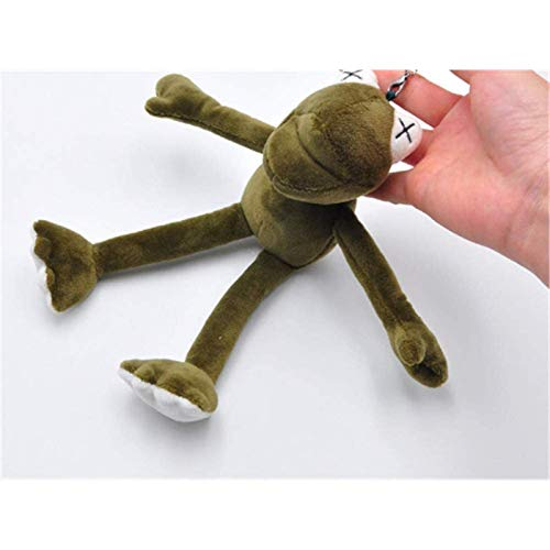 Odnryx Llavero de Peluche para niños de 20 cm, muñeco de Rana de Patas largas, Juguete de Felpa, Llavero de Vacaciones, Bolsa Colgante, Regalo