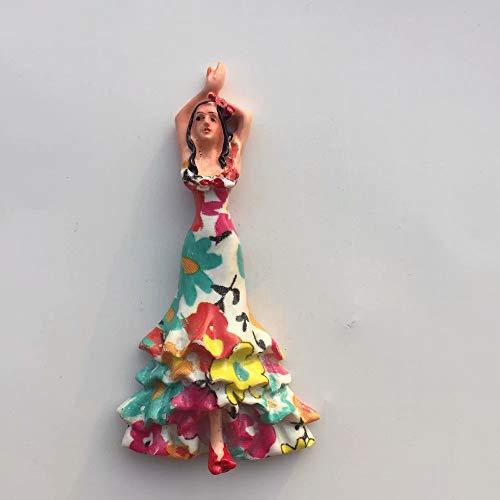 Weekino Bailarina De Flamenco España Barcelona Imán de Nevera 3D Resina de...
