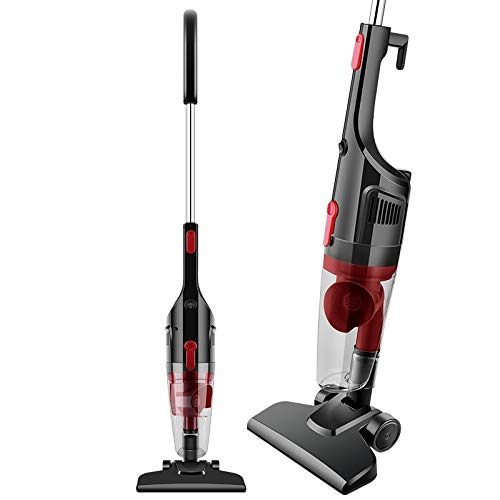 Fantastic Prices! HUOGUOYIN Wireless Vacuum Cleaner 2-in-1 600W Lightweight Stick Vacuum Cleaner Handheld Vacuums Corded with 15Kpa Strong Suction Vacuum Cleaner (Color : Black, Plug Type : UK)