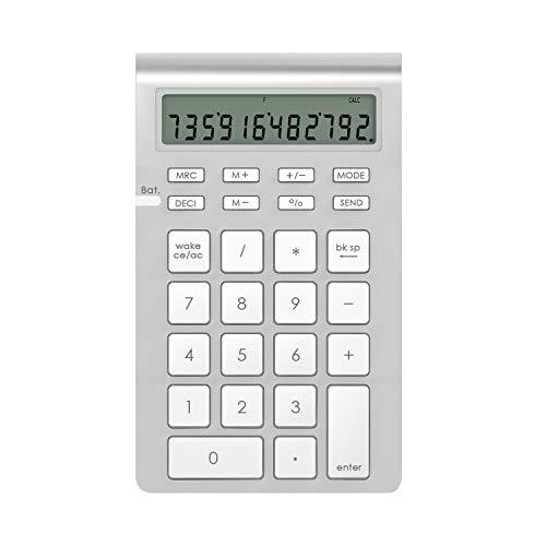Rytaki kabellose nummerische Tastatur mit Bluetooth und integrieter Taschenrechner Funktion für iMacs, MacBooks, PCs und Laptops