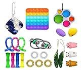 Kit De Juguetes Sensoriales, 2 Pack/Set Juguete Antiestres Pop-it Fidget Sensory Toys, Push Bubble Fidget Juguete Sensorial para Autismo Necesidades Especiales para Aliviar El Estrs