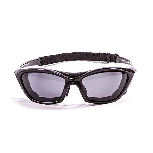 Ocean Sunglasses Lake Garda - Gafas de Sol polarizadas - Montura : Negro Brillante - Lentes : Ahumadas (13000.1)
