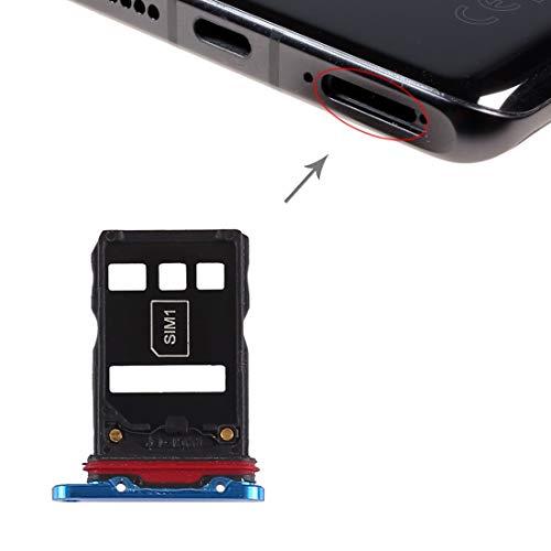 Dmtrab Recambio Bandeja de Tarjeta SIM + Bandeja de Tarjeta SIM for Huawei P30 Pro (Azul) Tarjeta De Teléfono (Color : Blue)