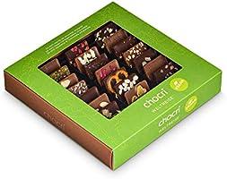 chocri 'Weltreise' vegan - chocoladekoffer met 24 handgemaakte veganistische chocoladerepen gemaakt van pure chocolade...