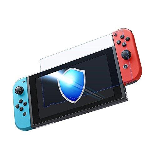 Nintendo Switch 保護フィルム-DOSMUNG(2枚セット)任天堂 Switch ガラス フィルム-強化保護ガラス 高精細 クリスタル透明度 9H硬度 ガラス飛散防止 指紋防止 気泡ゼロ