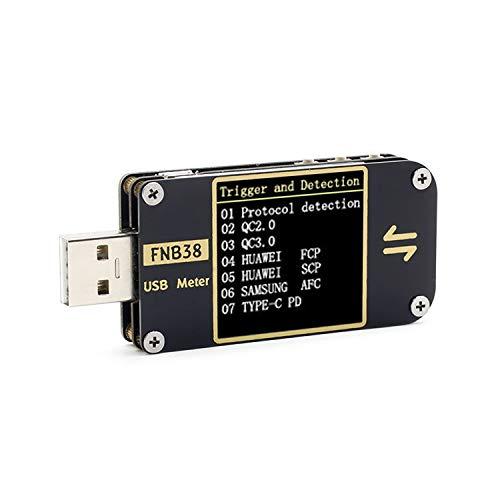 Kecheer USB Meter Tester USB-Multimeter Spannungstester FNB38 Strom- und Spannungsmesser USB-Tester QC4 + PD3.0 2.0 PPS Kapazitätstest für das Schnellladeprotokoll