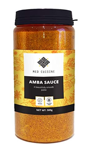 Salsa Amba Med Cuisine 500gr - Condimento Piccante al Mango Sottaceto - Chutney Israeliano - Vegano e Non OGM (1 confezione)
