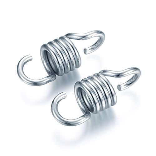 2PCS Hängesesselfedern, Eisenverzinkte Zugstahlfedern für Hängesessel und Verandaschaukeln, 550bl / 250kg Gewichtskapazität
