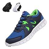 Zapatillas Deporte Hombre Zapatos para Correr Athletic Cordones Transpirable Running Sports Sneakers, Color Azul/Blanco, Talla 42 EU