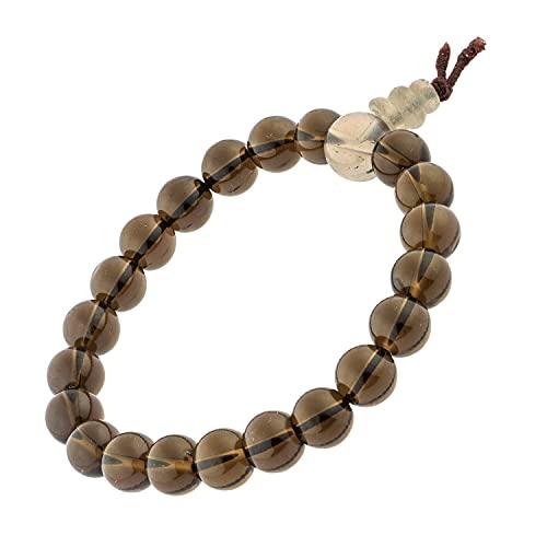 Pulsera Natural Piedras + caja de regalo, 17,5 cm, Redondas de 8 mm para Hombres y Mujeres -...