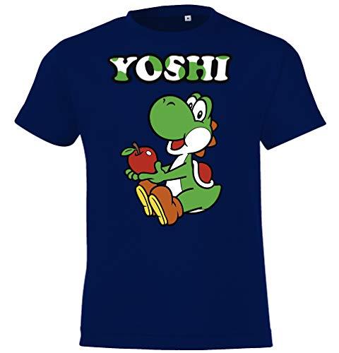 Kinder T-Shirt Modell Yoshi, Gr. 130/140 (10 Jahre), Navyblau