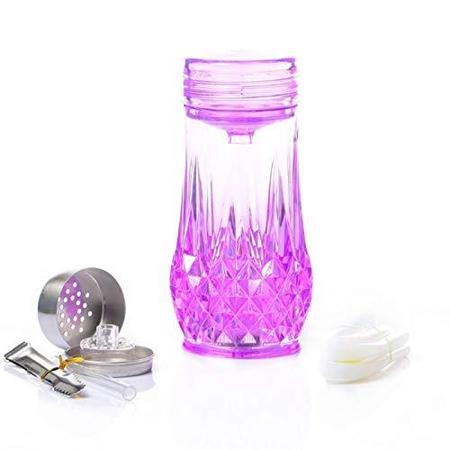 Shisha Acrylhaarna EIN Schlauch großer Rauch mit Silikon-Hukahnschüssel und buntes LED-Licht für den Rauchergenuss von Nikotines Vergiftungshukah-Set (Color : Purple)