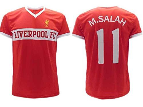 PAOFU-Liverpool F.C Mohamed Salah #11 Fu/ßball Trikot F/ür Kinder Jugend Fan Jersey,Schwarz,L