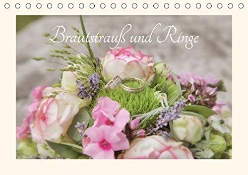 Brautstrauß und Ringe (Tischkalender 2021 DIN A5 quer)