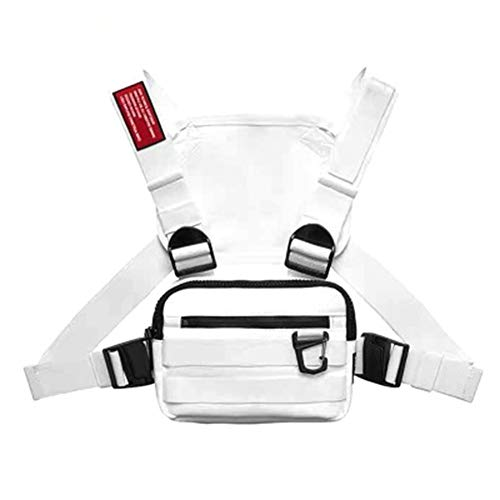 CFeng Chest Rig Tasche, Multifunktionale Harness Chest Waist Pack Taschen, Hip Hop Fashion Chest Front Bag Brusttasche für Mann