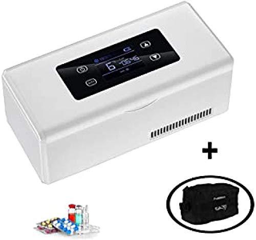 YISUPP Mini-Koffer Für Medizinischen Kühlschrank Und Insulin-Kühler - Tragbarer Insulinbeutel Für Gekühlte Reisen Hält 2-8 ° C Mit USB-Autoadapter