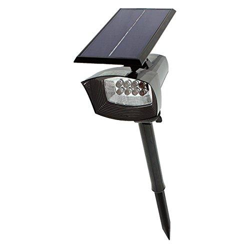 Aplique Solar Dora con pincho impermeable Ideal Exterior batería hasta 8 h 6000K Luz Fría 80% de ahorro [Eficiencia A++]2 AÑOS DE GARANTÍA ILUMINASHOP