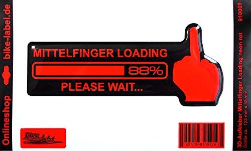 Pegatinas/3d–Te dedo medio Loading 910009–En Neon de Color Rojo–No más barato pantalla–Adhesivo...