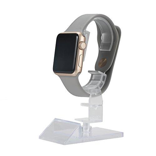 20 Profi Uhrenständer aus Acryl - Uhrenhalter für Vitrine | Drehbar und Verstellbar | Aufbewahrung für Schwere Uhr