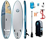 Boardworks SHUBU Kaken All-Water/Surf Inflatable Stand-Up Paddle Board (iSUP) | SUP Package Includes Pump, Three Piece Paddle and Roller Bag | 10'