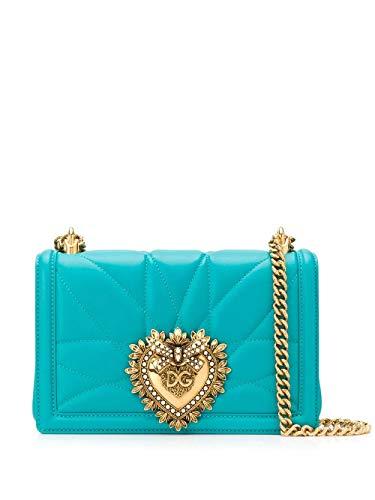 Luxury Fashion | Dolce E Gabbana Dames BB6652AV96780614 Blauw Leer Schoudertassen | Lente-zomer 20